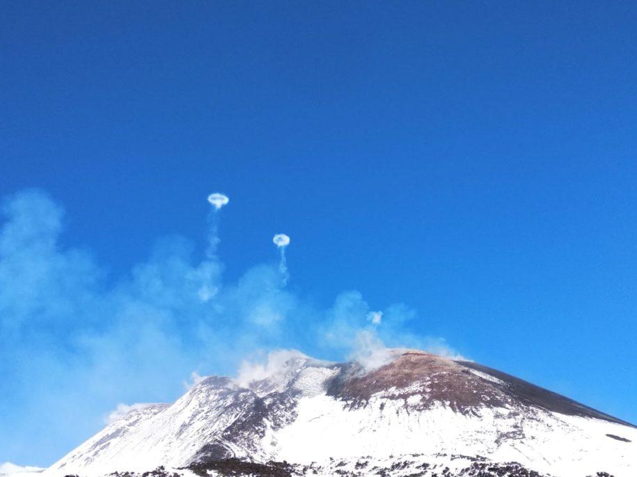 Anelli di fumo Etna
