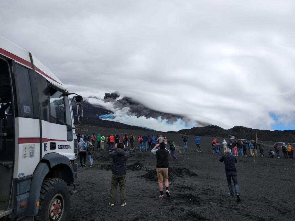 Nouvelle éruption d'etna